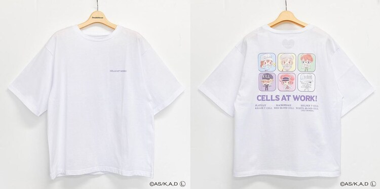 「はたらく細胞 バックプリントTシャツ(ホワイト)」