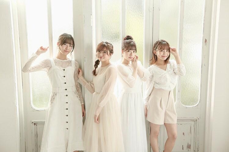 Members of Healer Girls.  From the left, Akane Kumada, Marina Horiuchi, Karin Isobe, Chihaya Yoshitake.