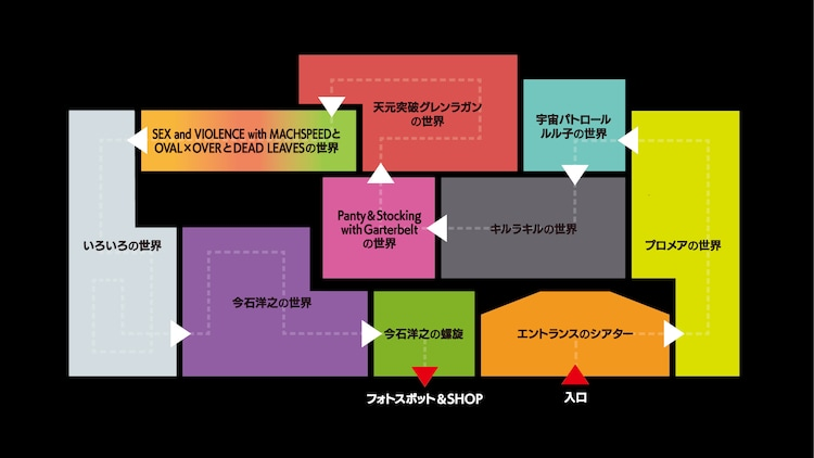 「今石洋之の世界」会場マップ