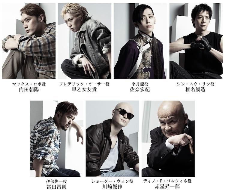 「『BANANA FISH』The Stage -前編-」追加のキャラクタービジュアル。