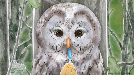 短編アニメーション「青い羽みつけた!」第3話より。 (c)Noovo Inc. / 青い羽みつけた!製作委員会