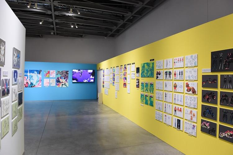 「今石洋之の世界」展より、「プロメア」の展示エリア。