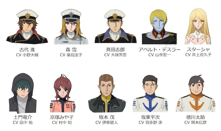 「宇宙戦艦ヤマト2205 新たなる旅立ち 前章 -TAKE OFF-」の登場キャラクター。(c)西﨑義展/宇宙戦艦ヤマト2205製作委員会