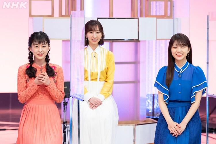 「アニソン!プレミアム!『ラブライブ!SP』」より左から徳井青空、飯田里穂、三森すずこ。(写真提供:NHK)