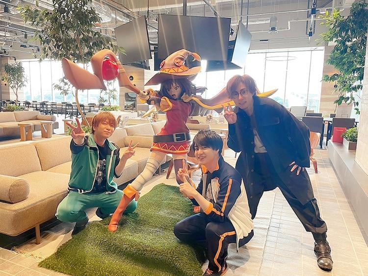 左から福島潤、小林裕介、日野聡。