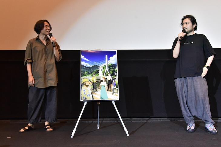 「劇場版 あの日見た花の名前を僕達はまだ知らない。」トークショー付き上映会より。左から長井龍雪、田中将賀。(c)ANOHANA PROJECT