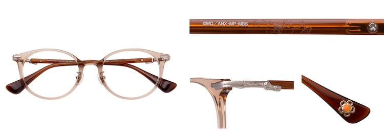 「巴マミモデル」のメガネ。