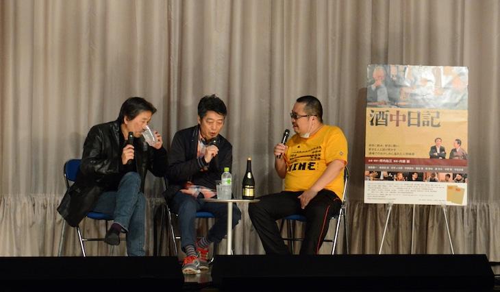 左から坪内祐三、亀和田武、杉作J太郎。