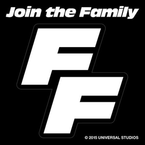 """「ワイルド・スピード SKY MISSION」""""ファミリーの証ステッカー""""  (c)2014 Universal Pictures"""