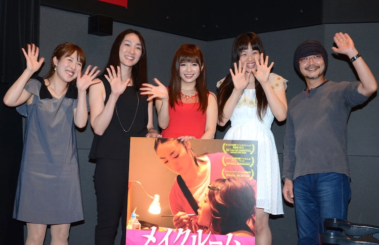イベントの様子。左から住吉真理子、森田亜紀、栗林里莉、大迫可菜実、森川圭。