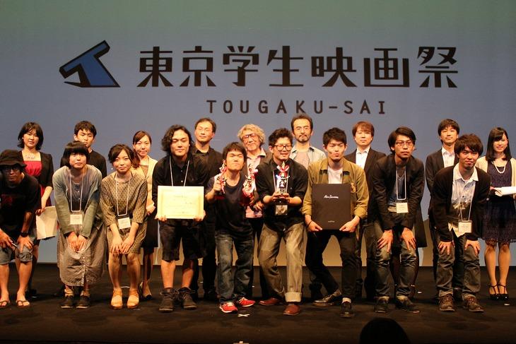 第27回東京学生映画祭、実写部門受賞式の様子。