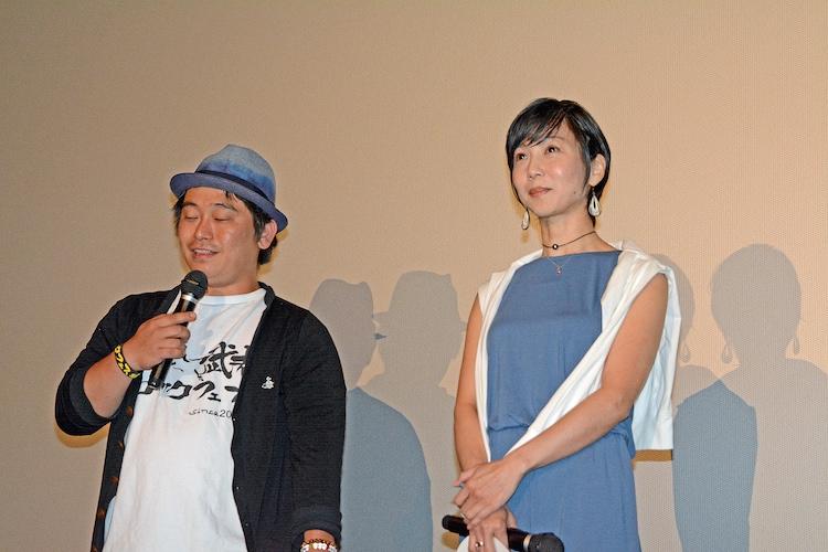 左から監督の福田陽平、おぞねせいこ。