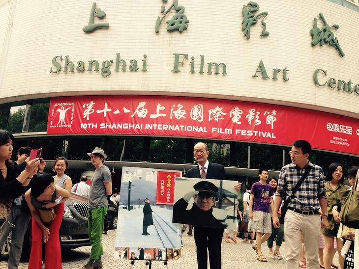「高倉健トリビュート上映会」のため上海まで駆け付けた、監督の降旗康男。
