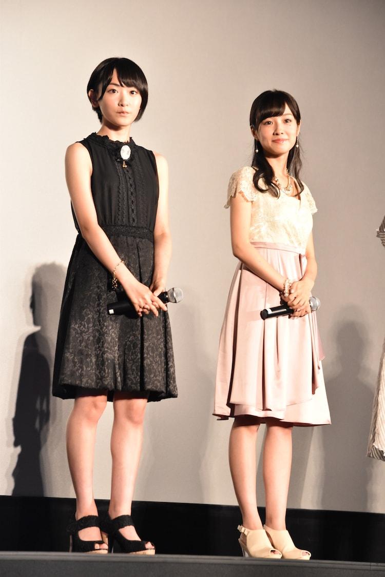 左から生駒里奈、前田希美。