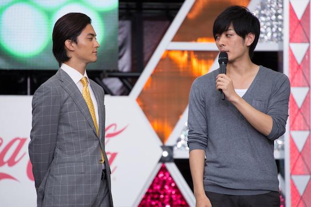 「Mr.マックスマン」トークショーの様子。左から永瀬匡、久保田悠来。