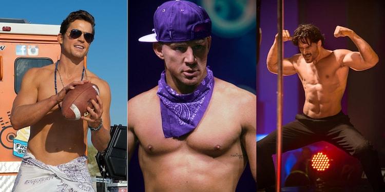 「マジック・マイクXXL」より、左からマット・ボマー、チャニング・テイタム、ジョー・マンガニエロ。