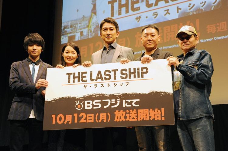 写真左より斎藤宏介(UNISON SQUARE GARDEN)、藤本喜久子、神尾佑、山野井仁、安原義人。
