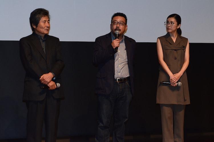 第28回東京国際映画祭ラインナップ発表会の様子。左から小栗康平、中村義洋、竹内結子。