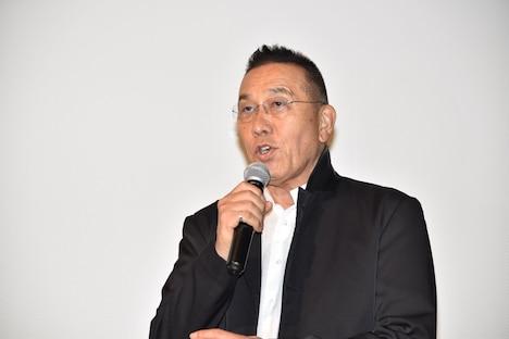 2015年10月13日、「シネマの天使」完成披露試写会に出席した際の阿藤快。