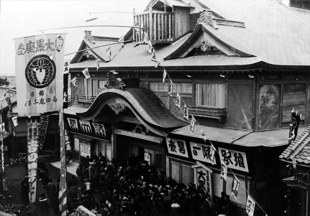 1903年頃のシネフク大黒座。(c)2015 シネマの天使製作委員会