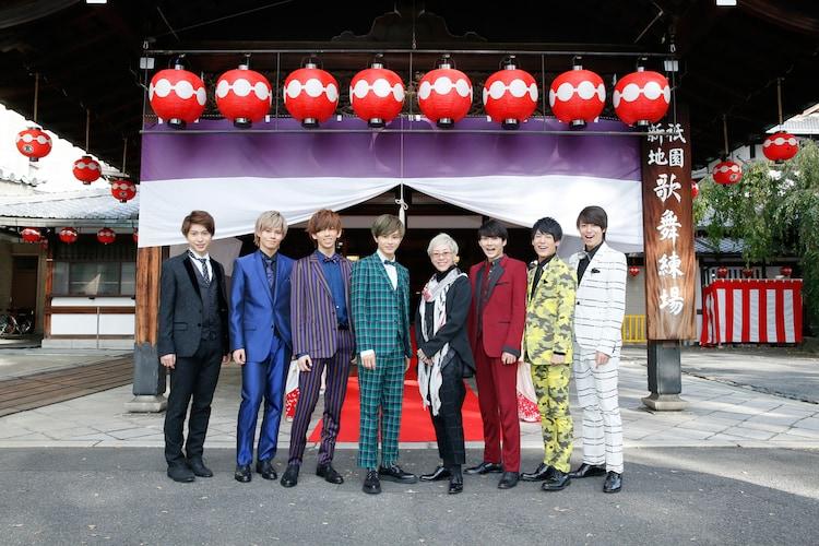 左からコーイチ、カイ、リョウガ、タクヤ、福山桜子、ユーキ、ユースケ、タカシ。(写真提供:SDR)