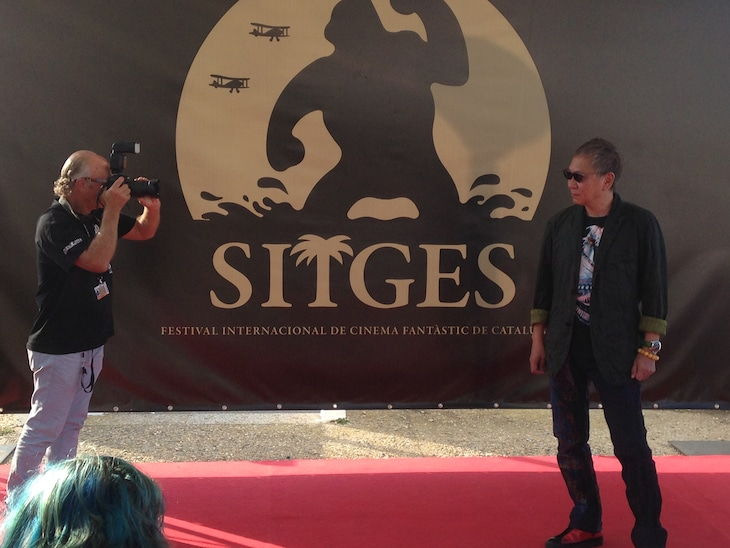 第48回シッチェス・カタロニア国際映画祭での三池崇史(右)。(c)2015「極道大戦争」製作委員会
