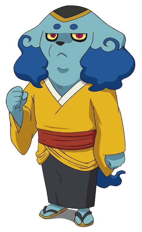 博多大吉が声を担当するキャラクター、妖怪・犬まろ。