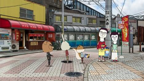 「紙兎ロぺ」と「ギャラクシー街道」のコラボエピソードより。(c)紙兎ロぺプロジェクト 2015/フジテレビジョン