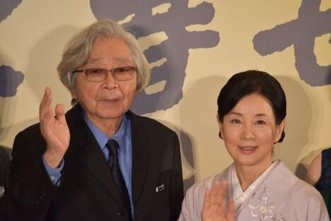 左から山田洋次、吉永小百合。