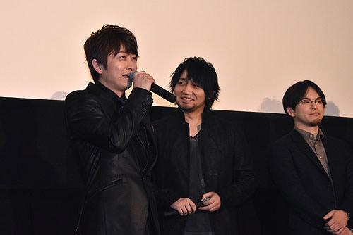 「新劇場版『頭文字D』 Legend3-夢現-」初日舞台挨拶の様子。
