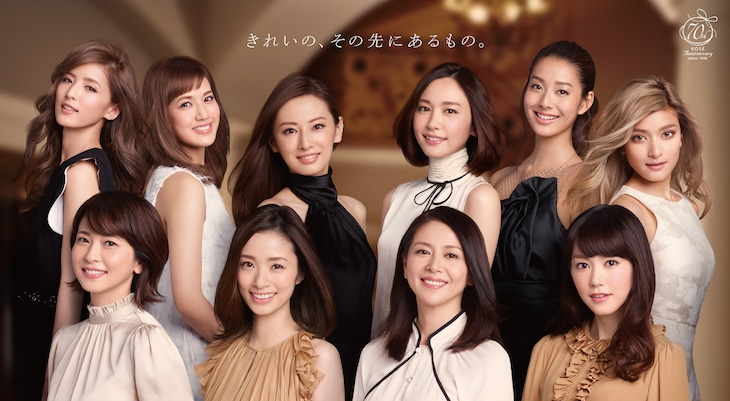 KOSE 70th Anniversary「Tokyo Seven Days」メインビジュアル