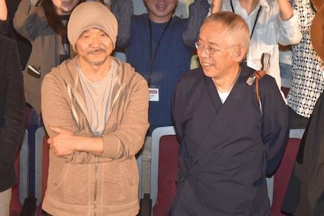 左から押井守、鈴木敏夫。