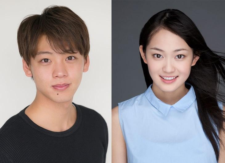 テレビドラマ「時をかける少女」に出演する竹内涼真(左)と吉本実憂(右)。