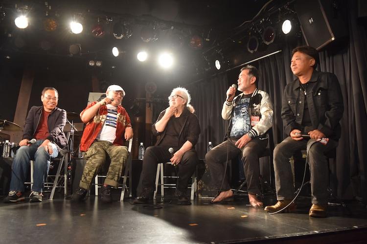 左から笠松則通、緒方明、PANTA、飯島洋一、大森直人。