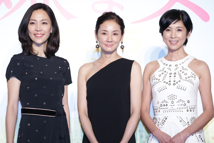 「嫌な女」完成披露プレミアイベントの様子。左から木村佳乃、吉田羊、黒木瞳。