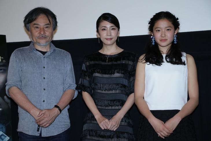 「クリーピー 偽りの隣人」トークイベントの様子。左から黒沢清、竹内結子、藤野涼子。