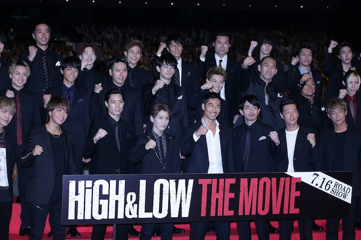「HiGH&LOW THE MOVIE」完成披露プレミアイベントの様子。