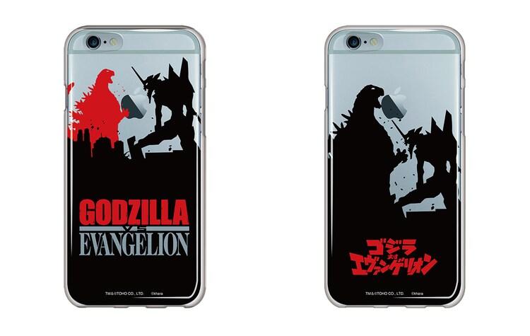 「ゴジラ対エヴァンゲリオン」iPhone6 / 6S用ソフトクリアケース 全2種(各2980円)