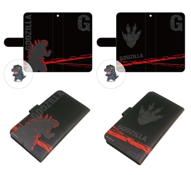 「シン・ゴジラ」クリーナー付き手帳型スマートフォンケース 全2種(各4320円)