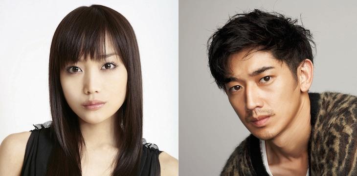 「リングサイド・ストーリー」出演者。左から佐藤江梨子、瑛太。