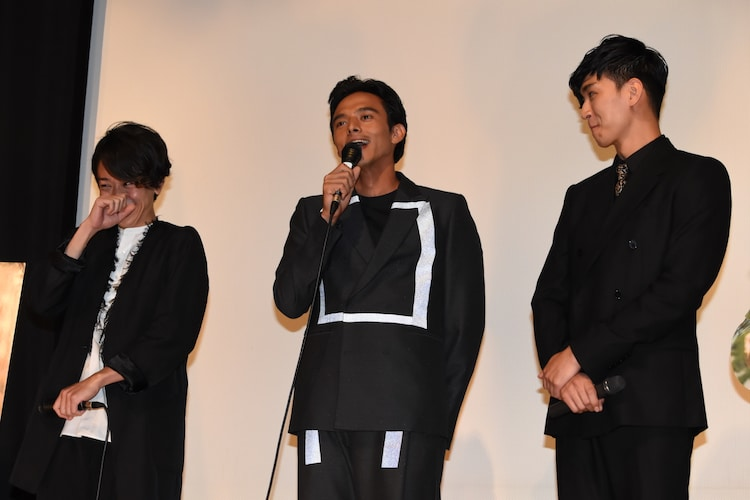 左から松澤匠、満島真之介、松田翔太。