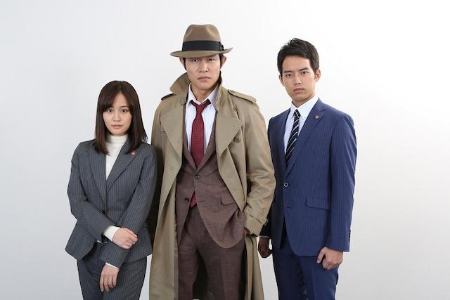 左から前田敦子演じる桜庭夏希、鈴木亮平演じる銭形幸一、三浦貴大演じる国木田晋太郎。