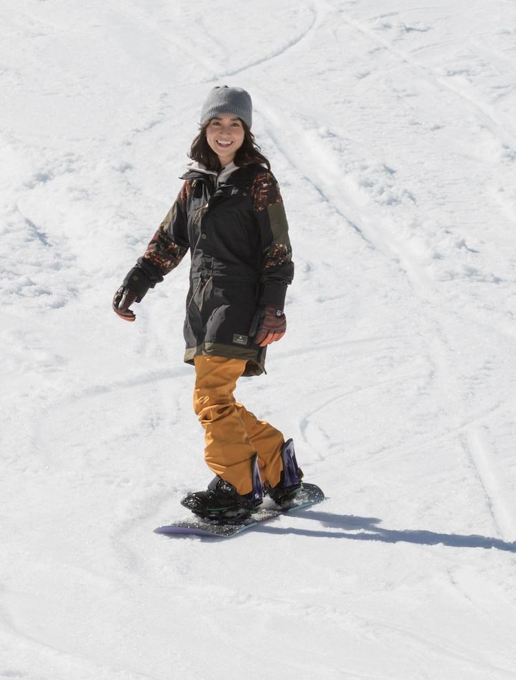 スノーボードで登場した大島優子。