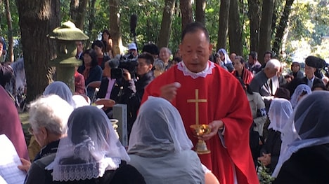 枯松神社祭の様子。