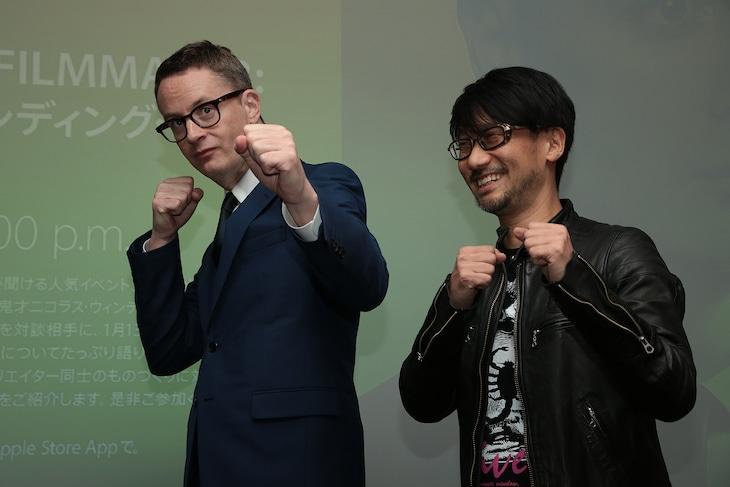 左からニコラス・ウィンディング・レフン、小島秀夫。