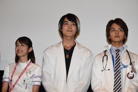 左から松田るか、松本享恭、瀬戸利樹。