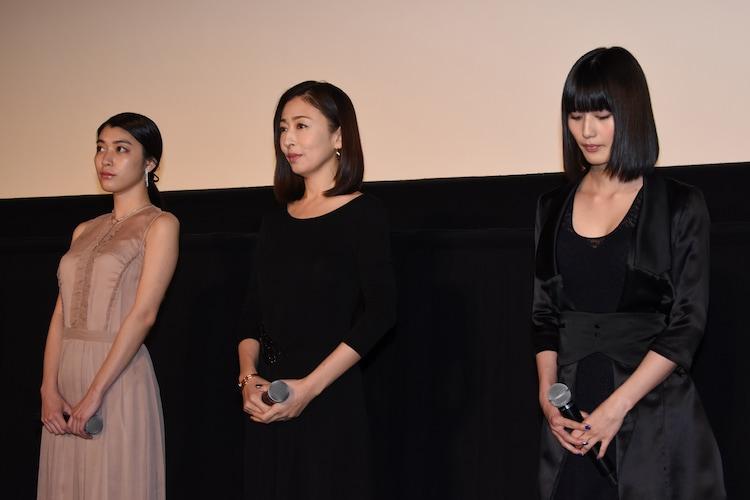 左から成海璃子、松雪泰子、橋本愛。