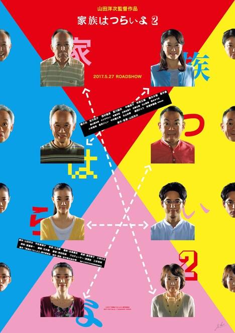「家族はつらいよ2」ポスタービジュアル (c)2017「家族はつらいよ2」製作委員会