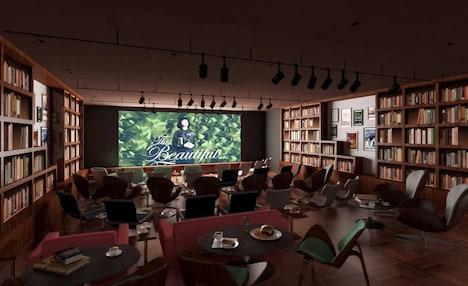 ココロヲ・動かす・映画館〇のイメージ図。