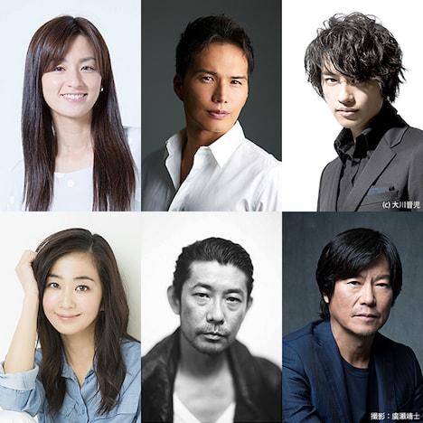 「ブルーハーツが聴こえる」で主演を務めた6人の俳優。上段左から尾野真千子、市原隼人、斎藤工。下段左から優香、永瀬正敏、豊川悦司。